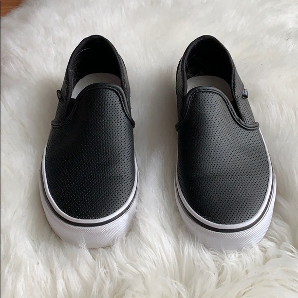 f49a9029dcf Vans Asher Perforated Leather Slip On Sneaker. M 5c61d881194dad3d95ff3fa3